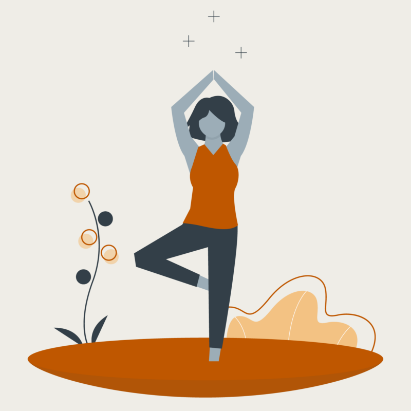 Illustration of person in a yoga pose