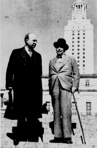 Walter Prescott Webb and H.G. Wells at UT Austin
