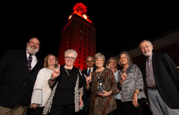 Civitatis Award Winners in front of UT Tower